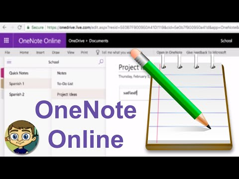 Beginner's Guide to Microsoft OneNote Online - 2018 Tutorial