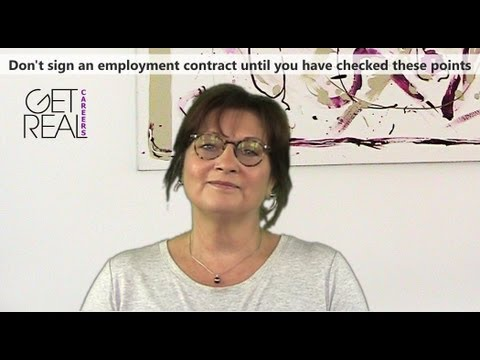 Don't sign an employment contract until you have checked the