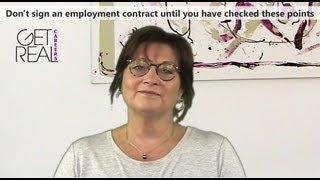 Don't sign an employment contract until you have checked these points