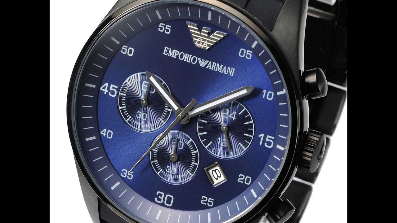 505187df49 EMPORIO ARMANI AR5921 MENS WATCH SPORTIVO CHRONO BLUE BLACK SILICONE REVIEW  アルマーニ ブルー ブラック レビュー メンズ