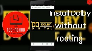 Video How to install Dolby digital equalizer in android without root | Technohub download MP3, 3GP, MP4, WEBM, AVI, FLV Agustus 2018