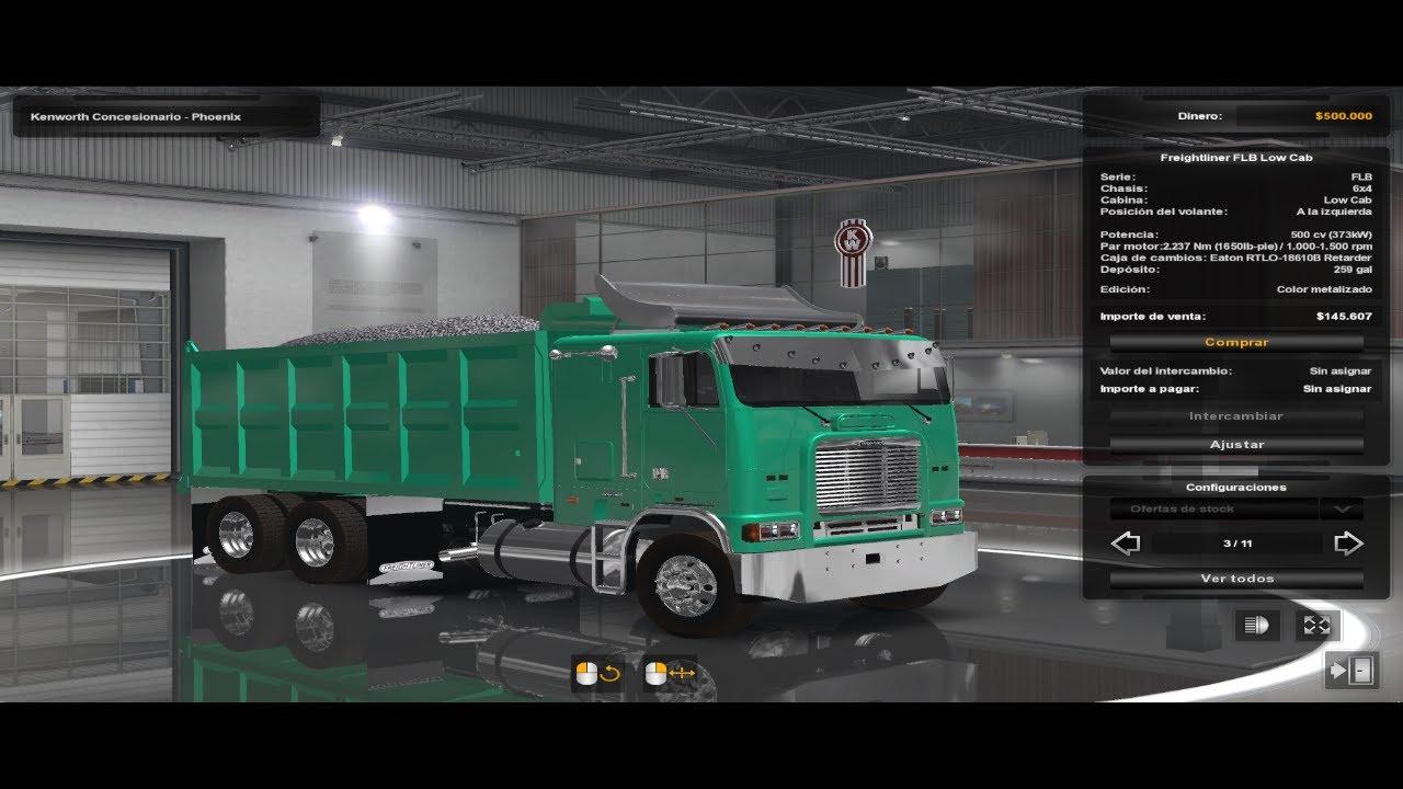 Descarga: Freightliner Flb Stock Version Ats y Ets2 1.38x, 1.39x.