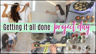 Clean With Me, DIY With Me, Cook With Me,  |Getting it all done | Project Day in the Life