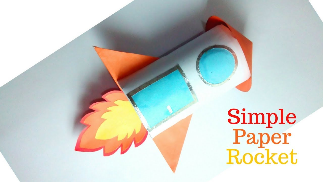How to make a rocket out of paper origami