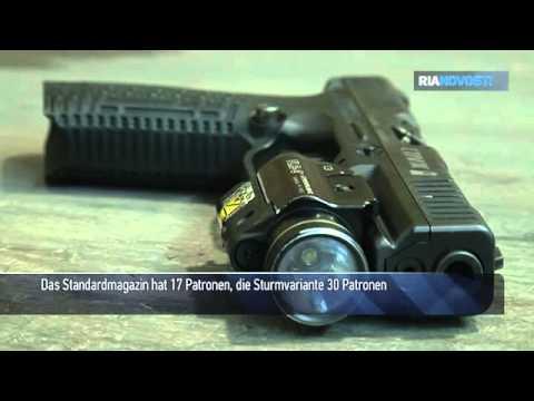 Neue russische Strisch-Pistole geht in Test