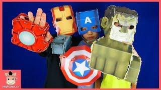 어벤져스 슈퍼 히어로 영웅 출동! 말이야 무기 제작소 아이템 획득 ♡ 캡틴 아이언맨 헐크 토르 변신 Marvel AvengersToys | 말이야와아이들 MariAndKids