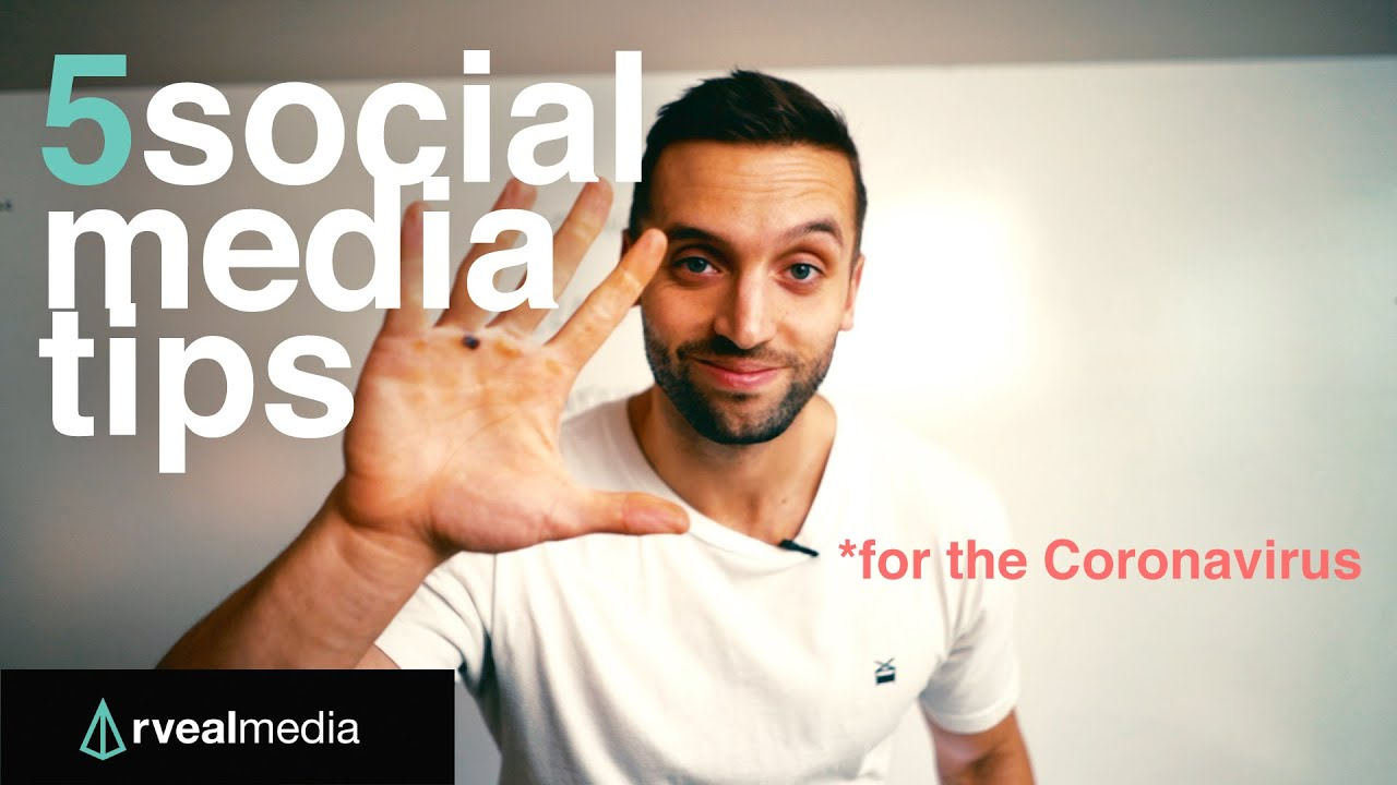 Coronavirus: 5 TIPS for SOCIAL MEDIA (maximize the time!)