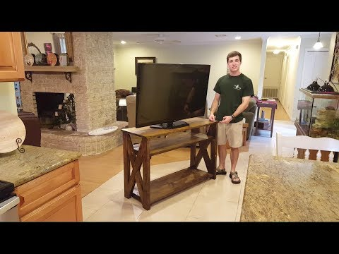 How to: Rustic TV Stand