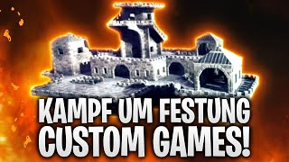 64 SPIELER KÄMPFEN um MEGA FESTUNG! CUSTOM GAMES! 🔥 | Fortnite: Battle Royale