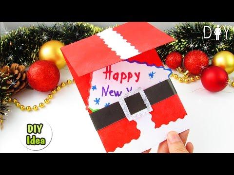 Diy New Year Gift Card Santa Youtube