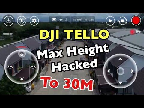 Dji Tello max altitute 30 m