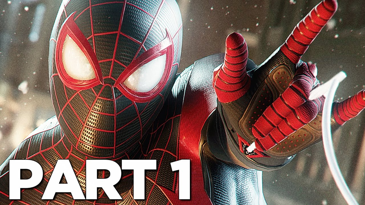 SPIDER-MAN MILES MORALES PS5 Walkthrough Gameplay Part 1 - INTRO (Playstation 5)