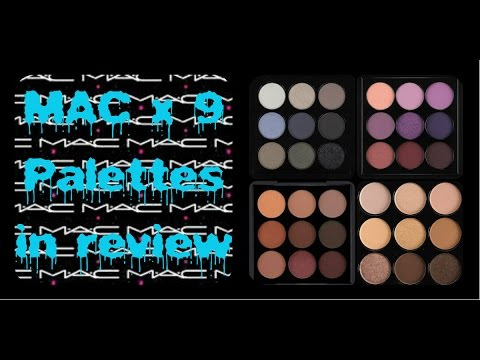 MAC x 9 Eyeshadow Palettes - REVIEW