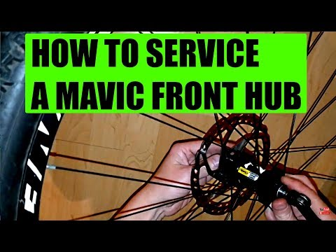 Mavic front hub crossone crossride crossmax How to service