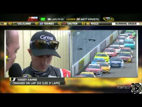 2013 Sylvania 300 Kasey Kahne Mid-Race Interview After Crash