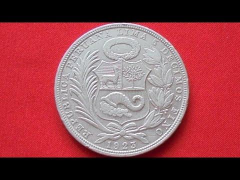 PERU SILVER SOL 1923 - Перу Соль 1923 Серебро