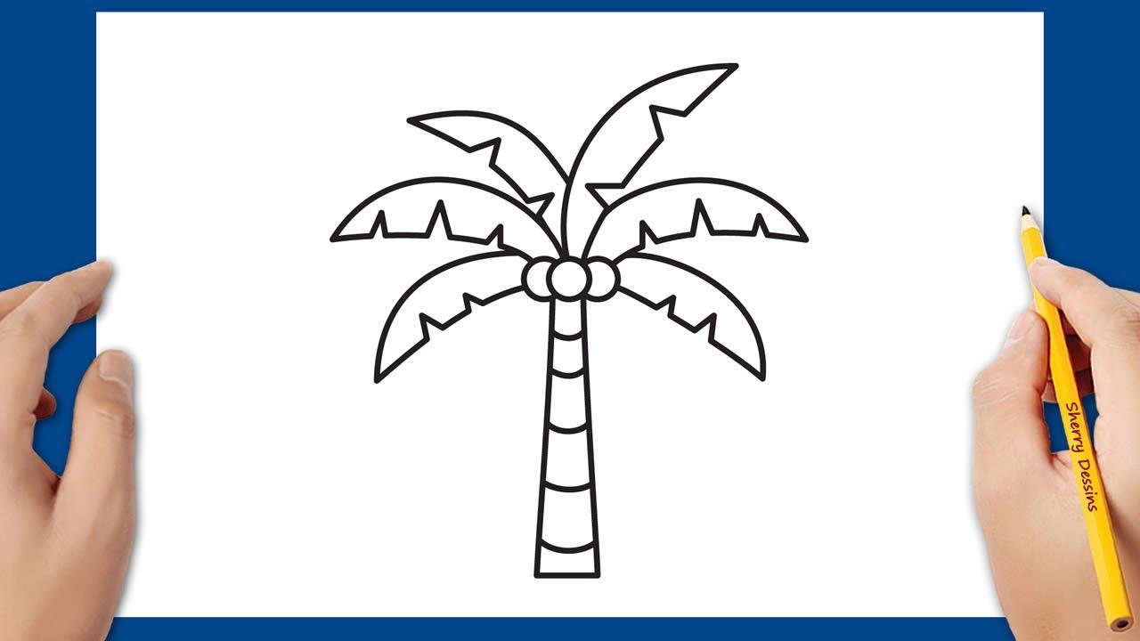 Comment Dessiner Un Palmier Cocotier Youtube