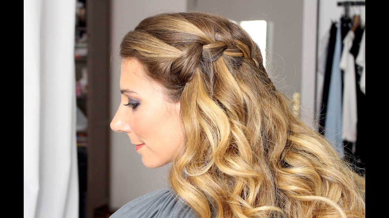 Exceptionnel Tuto coiffure : la tresse cascade (waterfall braid) - YouTube VD38