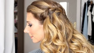 Tuto coiffure : la tresse cascade (waterfall braid)