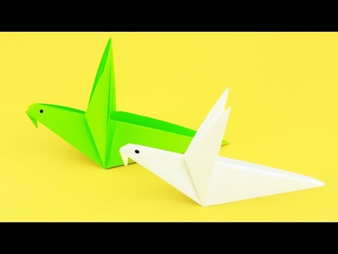 [NO GLUE Paper Crafts] How to Make a Simple Paper Bird - Easy Tutorials | Origami Flapping Bird
