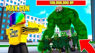 I fought the KING ZOMBIE BOSS with LEGENDARY ONLY GUN (Roblox)