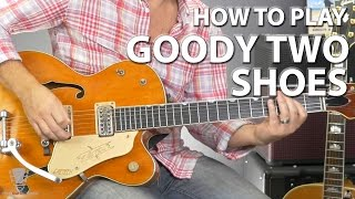 How to Play Goody Two Shoes by Adam Ant