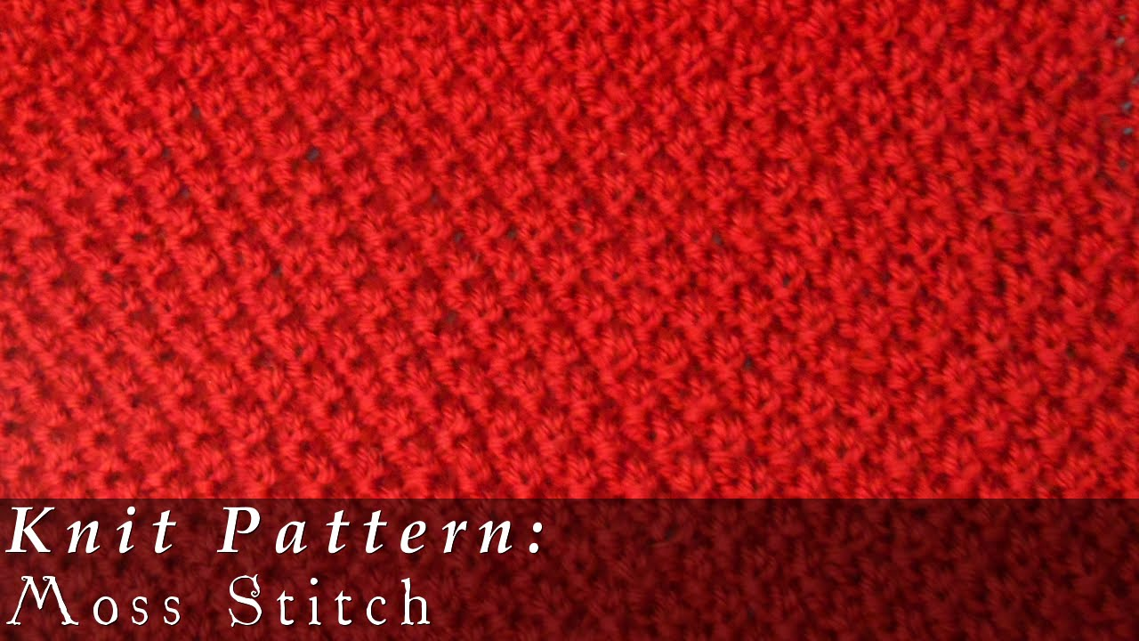 Knitting Moss Stitch How To : Moss Stitch/Double Moss Stitch { Knit } - YouTube