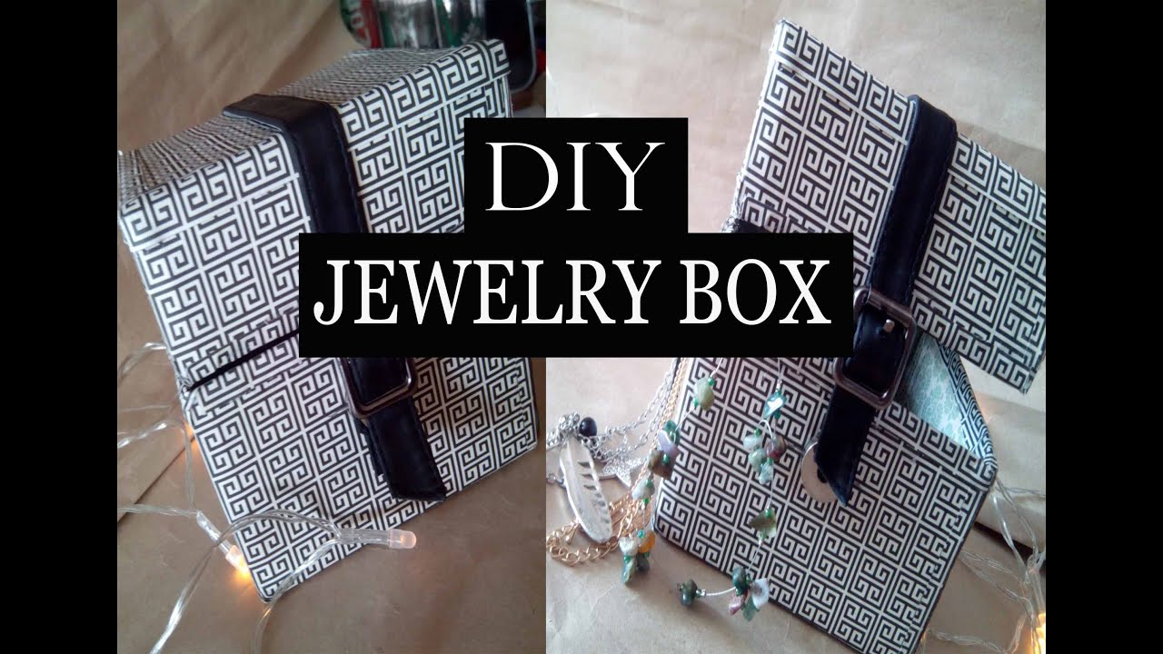 DIY jewelry box out of cardboard box Recycling YouTube