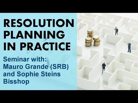 Resolution Planning in Practice - Seminar with Mauro Grande and Sophie Steins Bisshop (SRB)