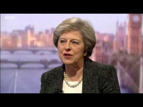 UK Prime MInister Theresa May interviewed by Andrew Marr what will she say to Donald Trump on Friday
