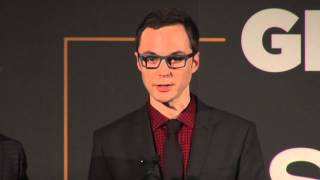 Jim Parsons & Todd Spiewak accept Inspiration Award at the 2013 GLSEN Respect Awards - Los Angeles