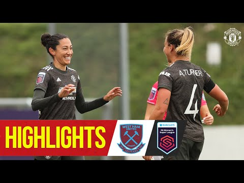Women's Highlights | West Ham 2-4 Manchester United | FA Women's Super League