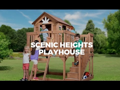 Delicieux Scenic Heights Wooden Playhouse For Kids In Parasol Outdoor Furniture  Showroom