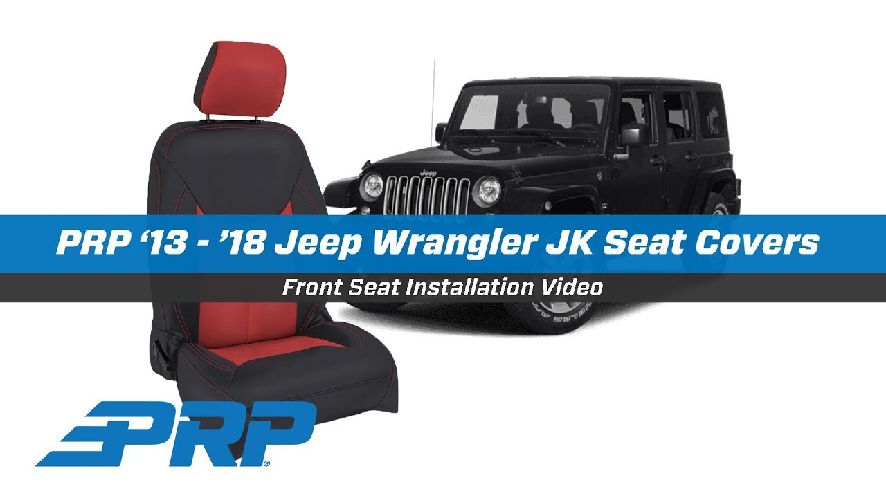 PRP Seat Covers for '13 - '18 Jeep Wrangler JK - Front Seat