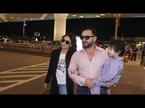 Saif Ali Khan and Kareena Kapoor leave for London with son Taimur Mp3