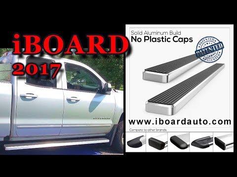 "6"" iBoard Running Board installation on 2017 Chevy Silverado Double Cab"