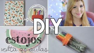 DIY Volta às Aulas - Estojos com Material Reciclado | Projeto DIY