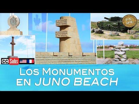 LOS MONUMENTOS EN JUNO BEACH (Normandía)