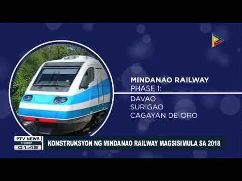 Konstruksyon ng Mindanao Railway, magsisimula sa 2018