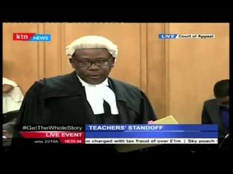 AG Githu Muigai makes his submission before the court on teachers strike