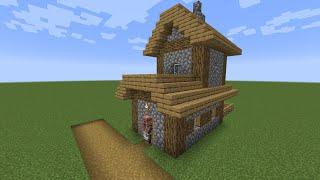 How to build a Minecraft Village Butcher Shop 2 1 14 plains YouTube