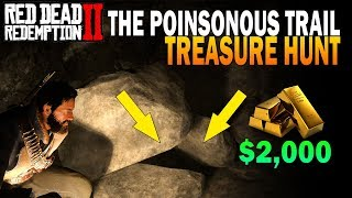 How To Make $2,000 FAST! Poisonous Trail Treasure Map Hunt! Red Dead Redemption 2 Easy Money Guide