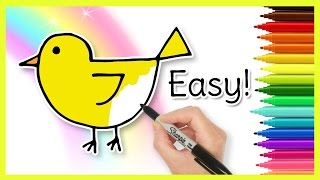How to Draw a CHICK! Coloring for Kids