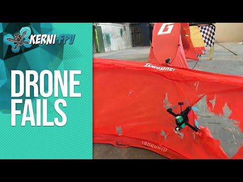 Quadcopter Crash Session   EPIC FPV Drone fails