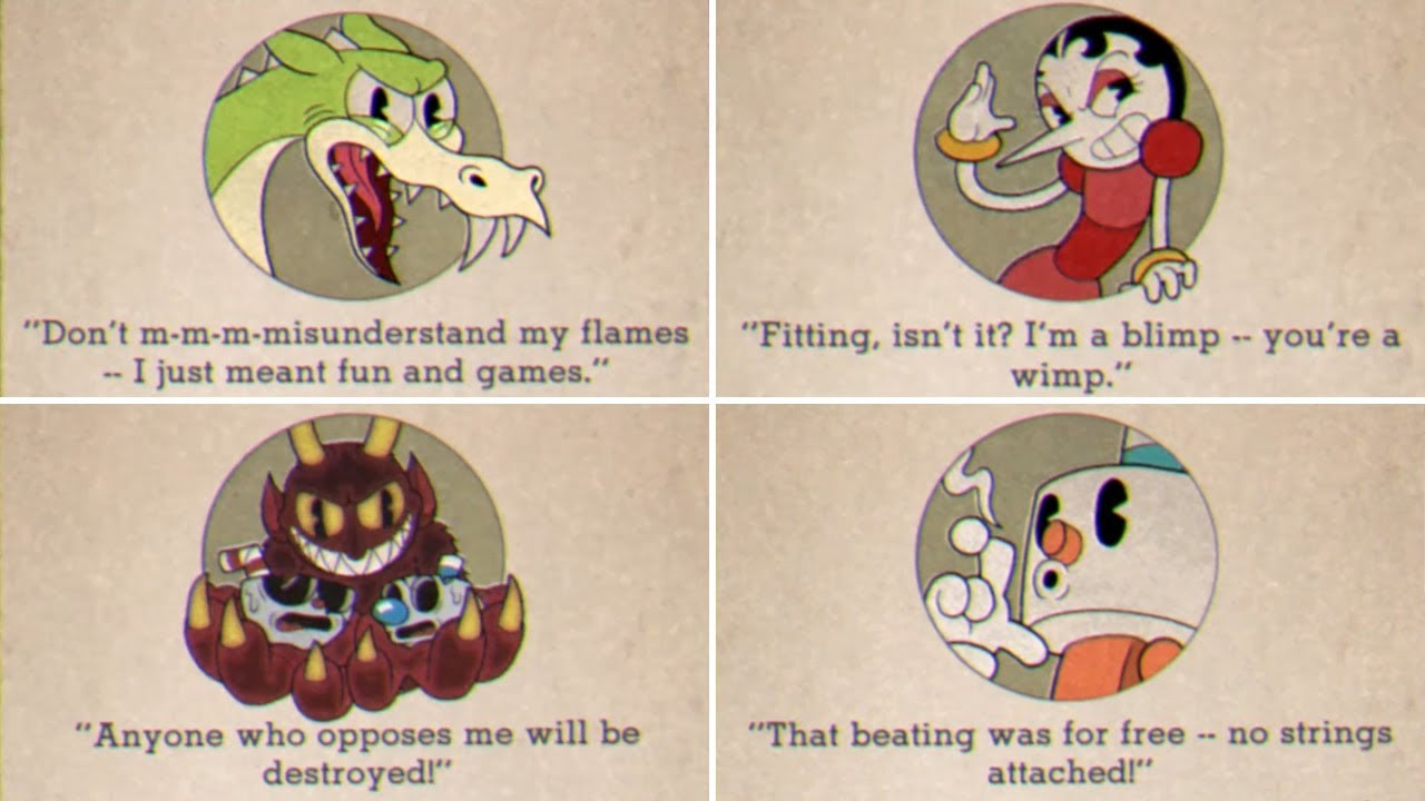 Cuphead Game Over Screens