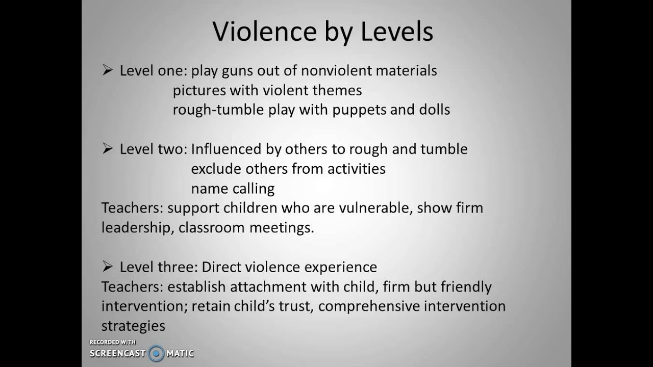 "the effects of media violence on children In their 2002 article ""mitigating the effects of gun violence on children and youth,"" james garbarino and his colleagues pointed out that ""children exposed to gun violence may experience negative short and long-term psychological effects, including anger, withdrawal, posttraumatic stress, and desensitization to violence"" (garbarino et."