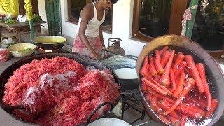 Gajar (Carrot) Ka Halwa Full Preparation For 100 People |Tasty & Healthy Sweet|Street Food Loves You