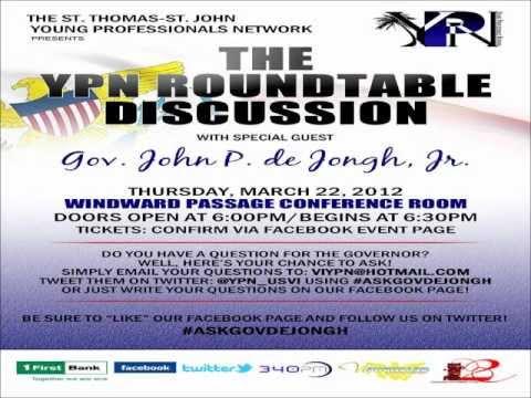 YPN Roundtable Discussion: Governor John P. de Jongh Jr. (March 22, 2012)