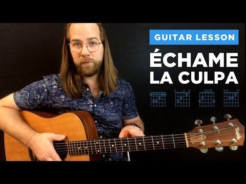 🎸 Echame La Culpa • guitar lesson w/ chords & strumming (Luis Fonsi & Demi Lovato)