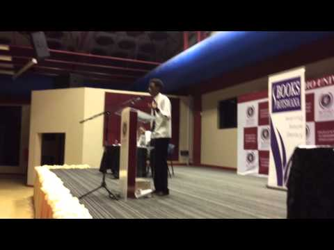 Books botswana finals speech